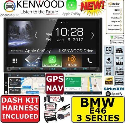 BMW E46 KENWOOD GPS NAVIGATION SYSTEM APPLE CARPLAY ANDROID AUTO CAR RADIO ()