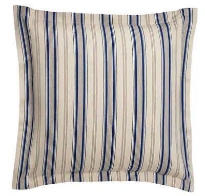 Chaps Home Beauport Euro Sham Stripe Size Euro Blue Tan 26