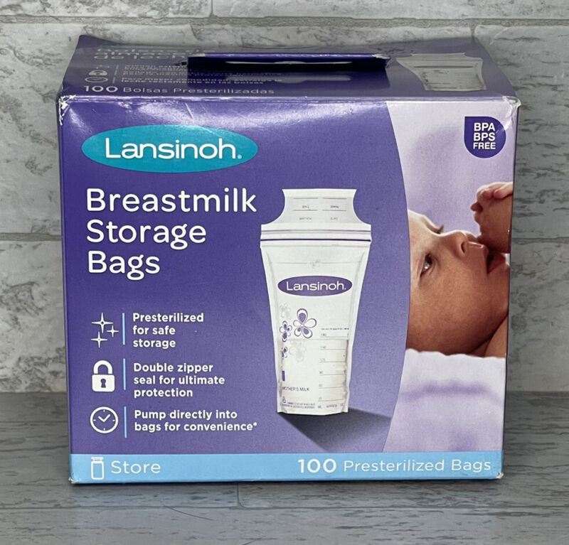 Breastmilk Storage Bags, 100 count Lansinoh BPS BPA Free Presterilized