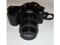 Vintage Minolta Dynax 3xi 35mm Film SLR Camera with 35-70mm Lens. Fully Working with Ever Ready Case