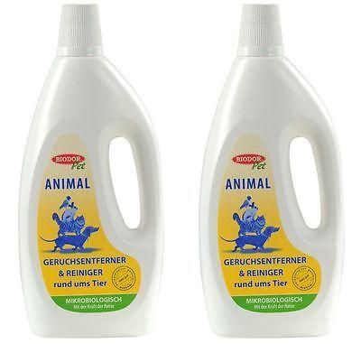 2 Flaschen Biodor® Pet Animal 1000 ml (2 Liter)