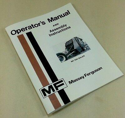 Massey Ferguson Mf 560 Baler Operators Owners Manual Assembly Instructions
