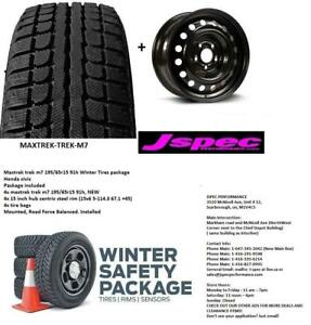 15 inch Honda civic winter rims n tire package 195/65R15 16 17 inch package available