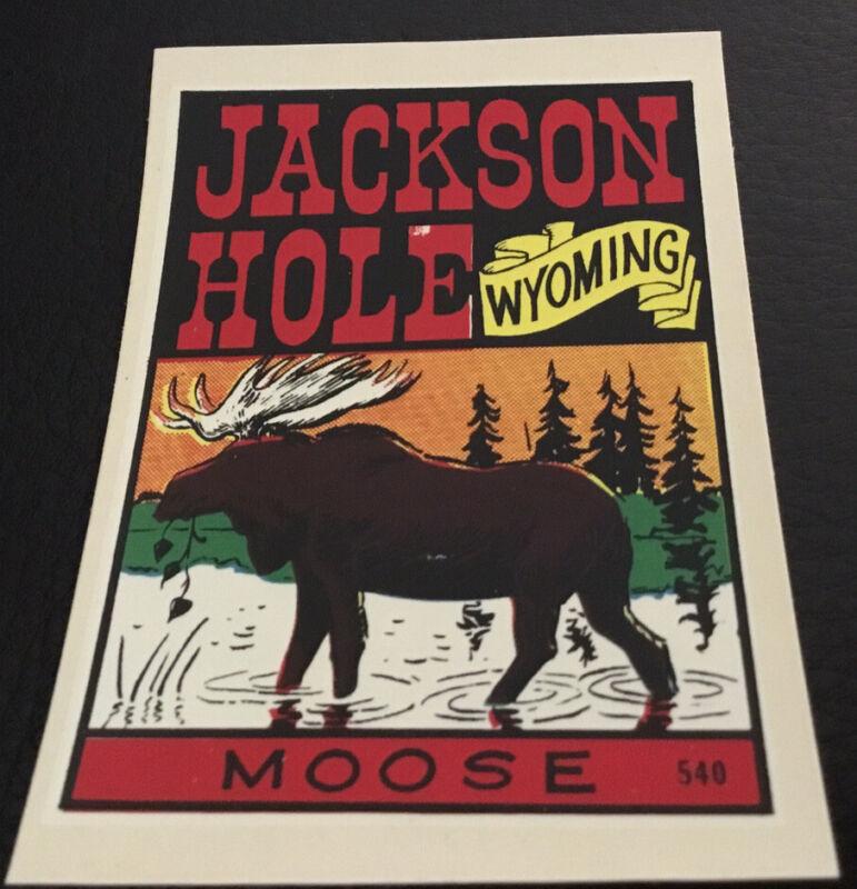 Jackson Hole, Wyoming Vintage Decal