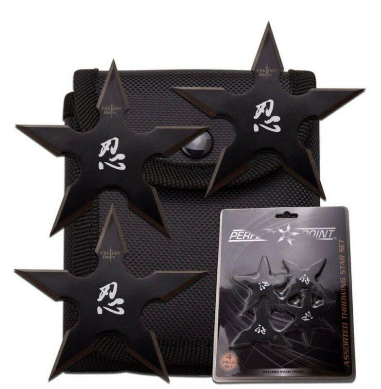 Ninja Training Throwing Stars Practice Dense Foam - Set of 4 Throwing Stars
