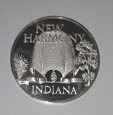 Silver MEDAL Franklin MINT NEW HARMONY Indiana Utpoian Community 1971