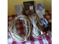 TELEPHONE ACCESSORIES AND TV COAX CABLE - ABSOLUTE BARGAIN - for £ 8
