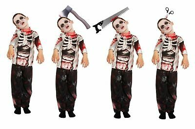 HALLOWEEN BOYS ZOMBIE COSTUME Kids Scary  Fancy Dress Party Outfit Skeleton UK