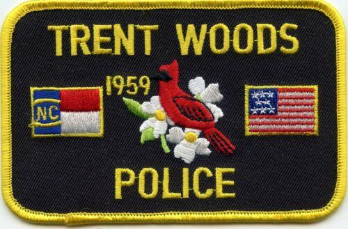 TRENT WOODS NORTH CAROLINA NC POLICE PATCH