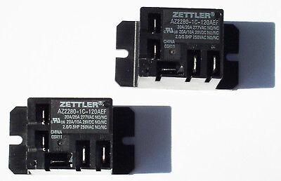 2 - Zettler Mini Power Relay Spdt 120v 30a Az2280-1c-120aef