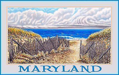 Northwest Art Mall Maryland Beach Dunes Artwork by David Linton,11