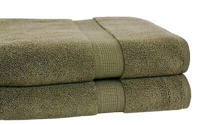 Set of 4 - Homestead Textiles Pima Cotton 34″ x 68″ Oversize Bath Towels Moss
