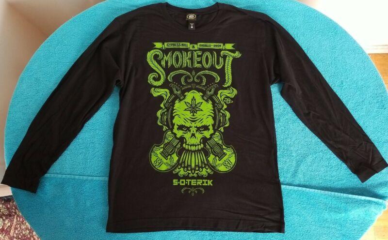 Cypress Hill & Guerilla Union 2012 SMOKEOUT Concert Longsleeve T-Shirt Men L NOS