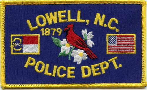 LOWELL NORTH CAROLINA NC POLICE PATCH