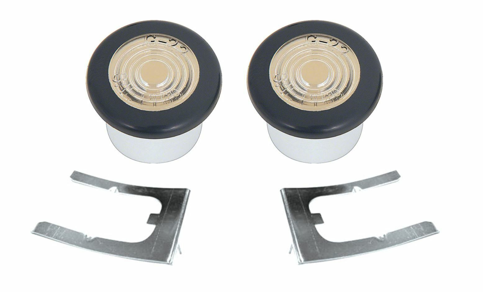 OER Front Side Marker Lamp Set With Retainters 1969 Pontiac Firebird