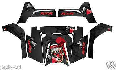 VINYL Racing WRAP QUAD POLARIS RZRS RZR800S RZR 800 CLOWN UTV RANGER 2011 2014