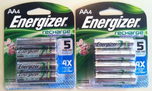8 Energizer Recharge Rechargeable AA Battery 2300mAh NiMH  4