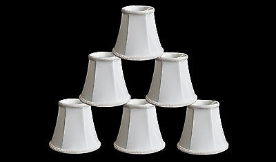 "Urbanest Chandelier Mini Lamp Shades,5"",Bell Silk,White w/ B"
