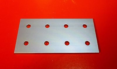 8020 8020 Equivalent Aluminum 8 Hole Joining Plate 10 Series Pn 4165 New