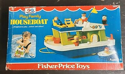 Fisher Price Little People Play Family Houseboat Complete With Box