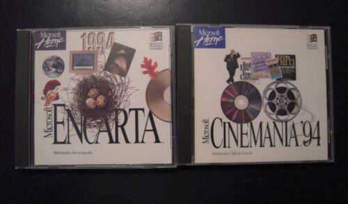 Lot of Microsoft Home Encarta 1994 And Cinemania 94 Windows