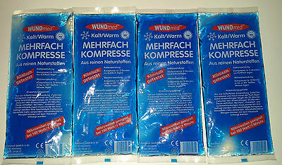 1- 4 Kompresse  Mehrfachkompresse Warm / Kalt Gelkissen Kühlkissen 26x11,5cm Neu - Kissen Mikrowellengeeignet