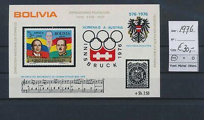 LO17120 Bolivia 1976 sports olympics good sheet MNH cv 30 EUR