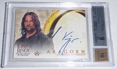 Lord of the Rings Fellowship of the Ring Autograph VIGGO MORTENSEN Aragon 2001
