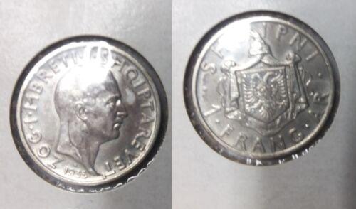 1935 Albania Silver Frang Ar- Nice #2