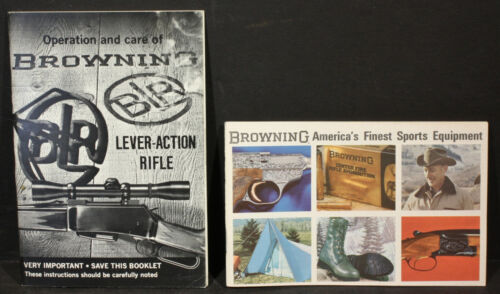 Browning BLR Lever-Action Rifle Operation and Care Manual & 70s 55 Page Catalog