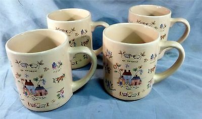Heartland 4 Mugs International China Stoneware