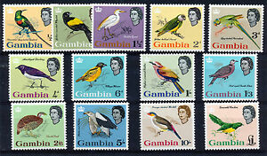 GAMBIA-1963-DEFINITIVES-SG193-205-MNH