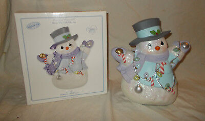 Precious Gift Light (Precious Moments Share The Gift Of Love Light UP Snow Man LIghts Up Led)