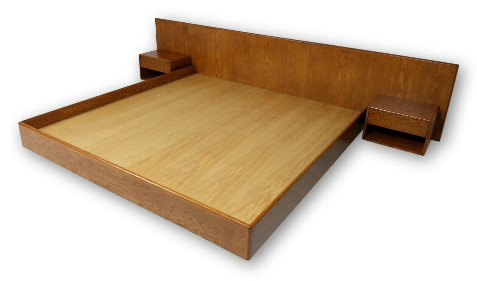 Photo New Hand crafted in USA, Danish inspired floating platform bed & nightstands MCM