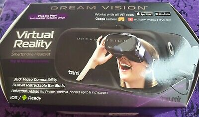 Tzumi Dream Vision Pro Virtual Reality Headset with Bluetooth NEW