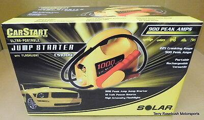Solar CS1000 900 Peak Amp Ultra-Portable Jump Starter, w/Hi-Intensity Light, Ultra Portable Jump Starter