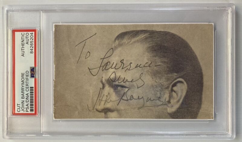 Actor John Barrymore Signed Autograph Cut On 3x5 Index Card - PSA DNA - FREE S&H