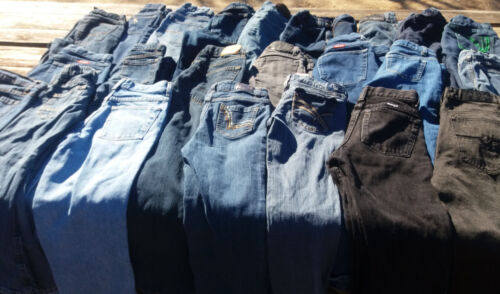 50 Pairs of Kids Blue Jeans Boys & Girls Bulk Sale Many Brands Mixed Lot & Sizes