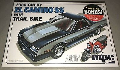 MPC 1986 Chevy El Camino SS with Dirt Bike 1/25 model car kit new 888 (Chevy El Camino Model)