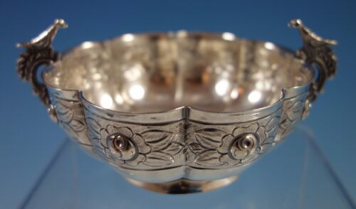 Aztec Rose by Sanborns Mexican Mexico Sterling Silver Dessert Bowl Birds (#1828)
