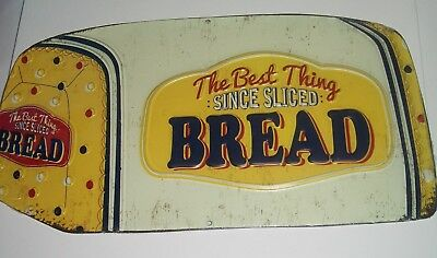 Bread Food Sign Best Thing Since Sliced Tin Metal Restaurant Kitchen
