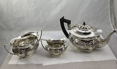 Solid Birmingham Silver Tea Set By The Makers T. M & Co 1919