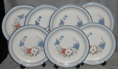 Set (7) Johann Haviland BLUE BOUQUET PATTERN Dinner Plates CROWNING FASHION