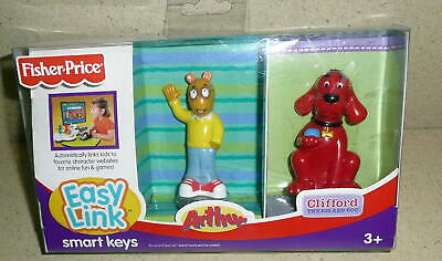 FISHER PRICE EASY LINK SMART KEYS Accessory With ARTHUR & CLIFFORD 2007 NIB