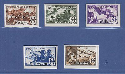 Dt. Besetzung 2.WK, Belgien Flämische Legion, Mi.-Nr. XV - XIX B Satz kpl. **