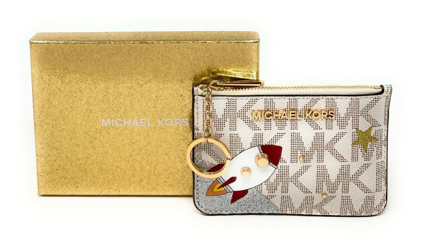 Michael Kors Women's Jet Set Item Small Top Zip ID Case Wallet Clothing, Shoes & Accessories