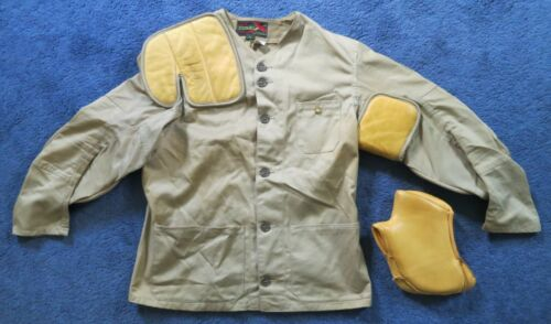 vintage 10-X shooting jacket, Sz.42, with 10-X shooting glove. Both VG+ cond.!