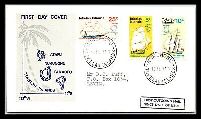 GP GOLDPATH: TOKELAU ISLANDS COVER 1971 FIRST DAY COVER _CV677_P15