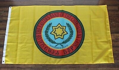 Cherokee Nation Banner Flag Eastern Band of the Native American Indian Yellow ](Flags Of The Nations)