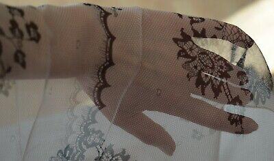 Einfach Seide (XXL Tuch, Rosa - Schwarz, aufgedruckte Spitze. Einfach Chic mit Seide + Viskose)